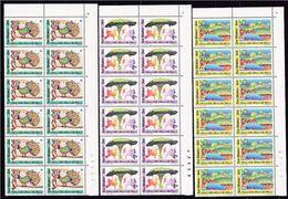 1989 San Marino Saint Marin NATURA NATURE  12 Serie Di 3v. MNH** Blocco Angolare - Natura