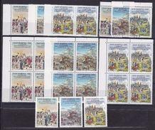 1989 San Marino Saint Marin RIVOLUZIONE FRANCESE FRENCH REVOLUTION 8 Serie Di 3v.: 7 MNH** + 1 Usata - Rivoluzione Francese
