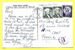 Taxed Postcard 1962 Stamp 2 X 1C Washington + 3C Liberty - Etats-Unis