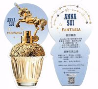 "Anna SUI "" Fantasia "" Carte Double Face - Cartes Parfumées"