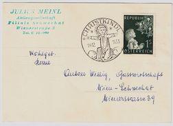 "1953, "" Christkindl - 14.12.1953 "", ANK € 140.-    , # 9016 - 1945-60 Briefe U. Dokumente"