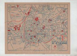 Plan Ville De Saint Etienne 1958 - Vieux Papiers