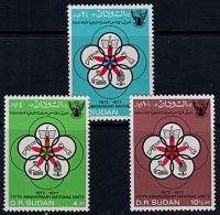 A1206 SUDAN 1977,  SG364-6  5th Anniv National Unity,  MNH - Soudan (1954-...)