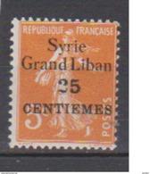 SYRIE        N° YVERT  :     89  NEUF AVEC  CHARNIERES      ( 1087  ) - Syrie (1919-1945)