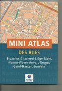 MINI ATLAS DES RUES DIVERS VILLES DE BELGIQUE - Cartes Routières