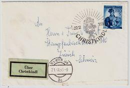 """1955, """" Christkindl Mit Leitzettel """"  , # 9017 - 1945-60 Briefe U. Dokumente"""