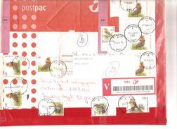 TP 3538(6)-3136-2919-3138-2936 Oiseaux Buzin Postpac Assurée AR 1457,12 € C.Schilde 3/4/04 V.Izegem Redirigée V.Brugge - Belgien