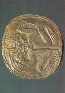 PANAMA - PENDANT PLAQUE HAMMERED GOLD     AUTENTICA 100% - Panama