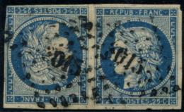 Lot N°045 France N°4c En Paire Tête-bêche Oblitéré Qualité ST - 1849-1850 Cérès