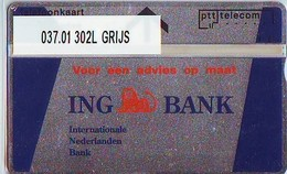 RARE * Telefoonkaart * ING * OPLAGE 235 * LANDIS&GYR * NEDERLAND * R-037.01 * Niederlande Prive Private  ONGEBRUIKT MINT - Nederland