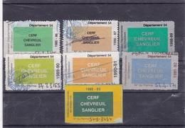 Lot De 7 Vignettes Para Fiscales Permis De Chasse Grand Gibier - Fiscale Zegels