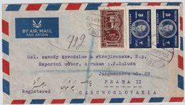 Afghanistan, 1949, Luftpost-Bf. Nach Prag  ,  # 9021 - Afganistán