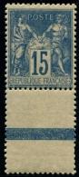 Lot N°804 France N°101 Bord De Feuille Neuf ** LUXE - 1876-1898 Sage (Type II)