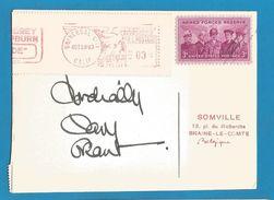 (A745) - Signature / Dédicace / Autographe Original - Cary GRANT - Acteur - Autographes