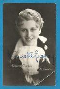 (A748) - Signature / Dédicace / Autographe Original - Huguette GREGORY - Actrice - Chanteuse - Opérette - Autographes