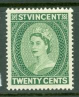 St Vincent: 1955/63   QE II    SG196     20c       MNH - St.Vincent (...-1979)