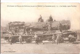 """Cpa 27 Déraillement De L'express En Gare De Bernay """"le Pacific Après L'accident"""" 1910 - Bernay"""