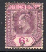 Northern Nigeria EVII 1910-1 Wmk. Mult. Crown CA 6d Dull & Bright Purple Definitive, Used, SG 35a - Nigeria (...-1960)
