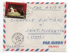 SENEGAL-1972-lettre De DAKAR à Destination De St FLORENTIN-89 (France)-Joli Timbre Seul Sur Lettre-cachets - Sénégal (1960-...)