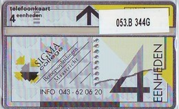 Telefoonkaart * SIGMA COLLEGE * LANDIS&GYR * NEDERLAND * R-053B * 344G * Niederlande Prive Private  ONGEBRUIKT MINT - Nederland