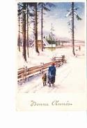 BONNE ANNEE, Grand-mère Et Enfant Dans La Neige, Chalet, Ed. ? Belgique 1940 Environ - Nouvel An