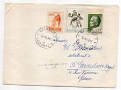YOUGOSLAVIE-1968-Lettre De BELGRADE à Destination De GERARDMER-89 (France)-Jolis Timbres(basket) Sur Lettre-cachets - 1945-1992 République Fédérative Populaire De Yougoslavie