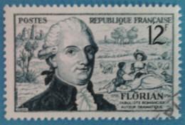 France 1955 : Bicentenaire De La Naissance Du Fabuliste Jean-Pierre Claris De Florian N° 1021 Oblitéré - France