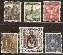 1947 Lussemburgo Luxembourg PRO ABBAZIA SAN WILLIBRORD (392/97) Serie Di 6v. MNH** - Chiese E Cattedrali