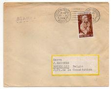 VATICAN-1952-Lettre Destination De BRUXELLES (Belgique)-Joli Timbre (Ste Catherine)seul Sur Lettre-beau Cachet Mécanique - Lettres & Documents