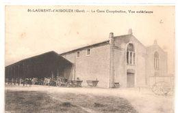 Cpa 30 St Laurent D'aigouze La Cave Coopérative Vue Extérieure Attelage Introuvable - Other Municipalities