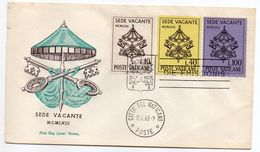 VATICAN-1963-FDC --Sede Vacante  1963--3 Valeurs - FDC