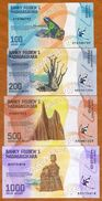 SET Madagascar, 100;200;500;1000 Ariary, 2017 P-New UNC > Completely Redesigned - Madagascar