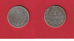 Allemagne  --  1 Mark 1876 C --  Km #7  --  état  TB - [ 2] 1871-1918: Deutsches Kaiserreich