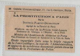 Maison Guérin Rue Laferrière Paris La Prostitution à Paris Docteur Parent Duchatelet - Ohne Zuordnung