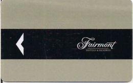 CANADA    KEY HOTEL Fairmont Hotels & Resorts - Cartes D'hotel