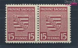 Sowjetische Zone (All.Bes.) 80I SE In SACHSEN Retuschiert (Feld 66) Postfrisch 1946 Provinzwappen (7335851 - Zone Soviétique