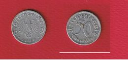 Allemagne  --  50 Reichpfennig 1940 D --  Km #96  --  état  TTB - [ 2] 1871-1918: Deutsches Kaiserreich