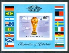 """1974 Liberia """"Munich 74"""" Coppa Del Mondo World Cup Coupe Du Monde Calcio Football  MNH** Zz30 - 1974 – Germania Ovest"""