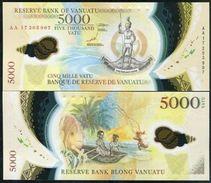 VANUATU 5000 5,000 VATU 2017 P NEW POLYMER UNC - Vanuatu