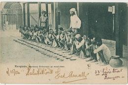 Rangoon Burmese Prisoners With Chains At Meal Time P. Used Rangoon Hindu Guard - Myanmar (Burma)