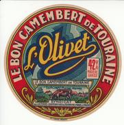 Étiquette De Fromage Camembert L'Olivet. 42% Matières Grasses. - Cheese