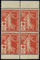 Lot N°2289 France N°147b Bloc De 4 Issu De Carnet Neuf ** LUXE - France
