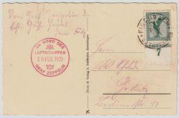 Zeppelin, 1929, Werkstätten-Fahrt , Sieger € 400, R!!   ,  # 9002 - Zeppelins