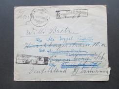 Rumänien 1936 Zensurbrief. Irrläufer Mit Vielen Stempel Und Vermerken! Löwenberg Schlesien. Bahnpost Zug 330 Heydebreck - 2. Weltkrieg (Briefe)