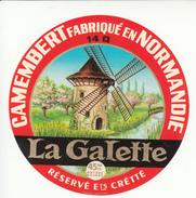 Étiquette De Fromage Camembert La Galette - Fromage