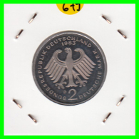 ALEMANIA -GERMANY - MONEDA DE  2.00 DM  AÑO 1983-D - KURT SCHUMACHER - S/C - [ 7] 1949-… : RFA - Rep. Fed. Alemana