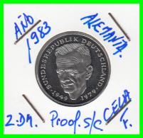 ALEMANIA -GERMANY - MONEDA DE  2.00 DM  AÑO 1983-F - KURT SCHUMACHER - S/C - [ 7] 1949-… : RFA - Rep. Fed. Alemana