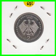 ALEMANIA -GERMANY - MONEDA DE  2.00 DM  AÑO 1983- J- KURT SCHUMACHER - S/C - [ 7] 1949-… : RFA - Rep. Fed. Alemana