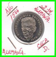 ALEMANIA -GERMANY - MONEDA DE  2.00 DM  AÑO 1984- D- KURT SCHUMACHER - S/C - [ 7] 1949-… : RFA - Rep. Fed. Alemana