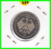 ALEMANIA -GERMANY - MONEDA DE  2.00 DM  AÑO 1986- J - KURT SCHUMACHER  S/C - [ 7] 1949-… : RFA - Rep. Fed. Alemana